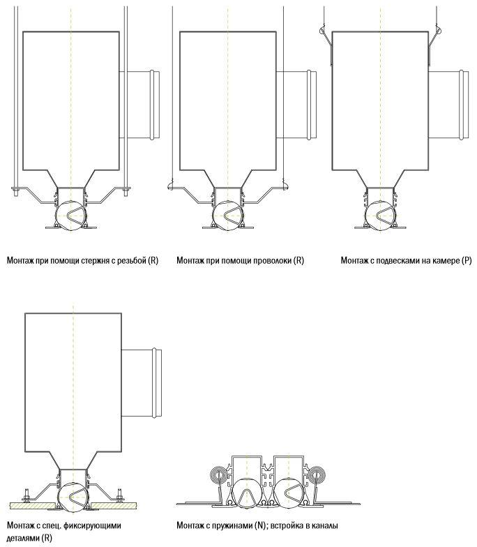 монтаж щелевого диффузора ld-14