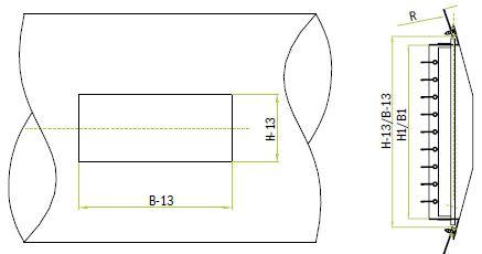 Непосредственное крепление к круглым воздуховодам решеток