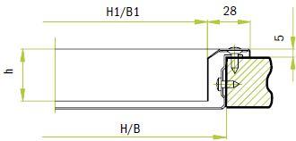 Видимое винтовое крепление + встроенная рама/V2