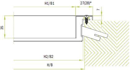 Крепление к стене с помощью встроенной рамы