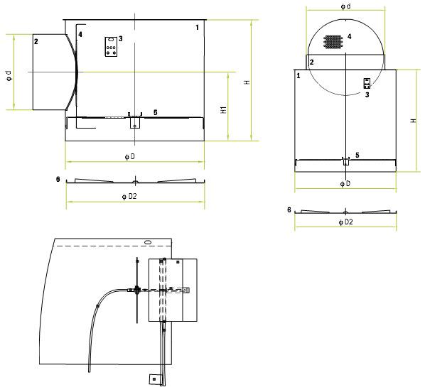 Размеры и составные части OD-5