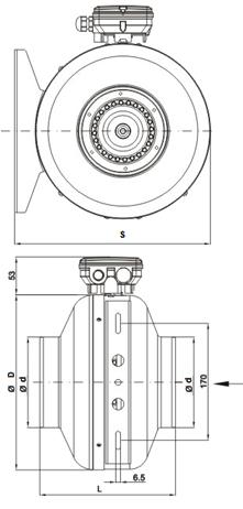 Вентилятор для круглого канала схема