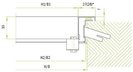 Крепление к стене с помощью встроенной рамы и скрытого фиксатора (замка)
