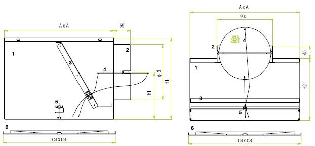Размеры и составные части OD-4