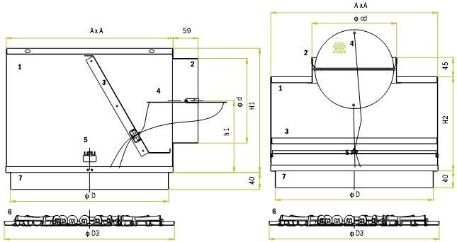 Размеры и составные части OD-8