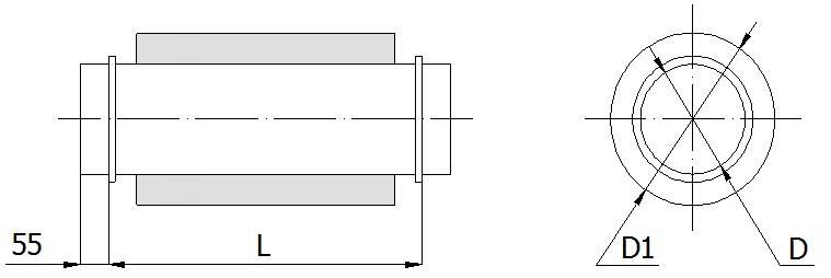 Шумоглушитель для круглого канала схема